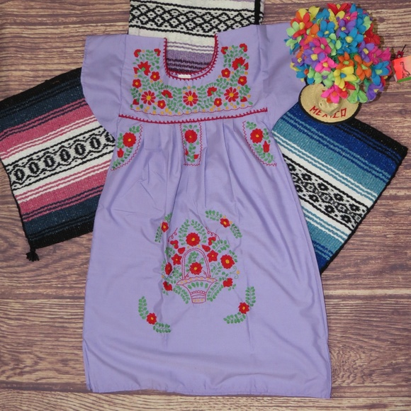 01bfaf22c Leos Imports Dresses   Hand Embroidered Mexican Dress Puebla Age8 ...